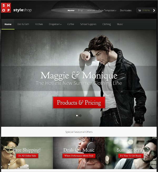 style shop ecommerce wordpress theme