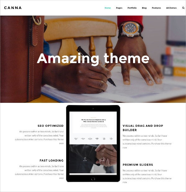 Creative Elegant WordPress Theme $49