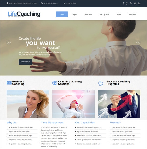 Business Consulting WordPress Theme $39