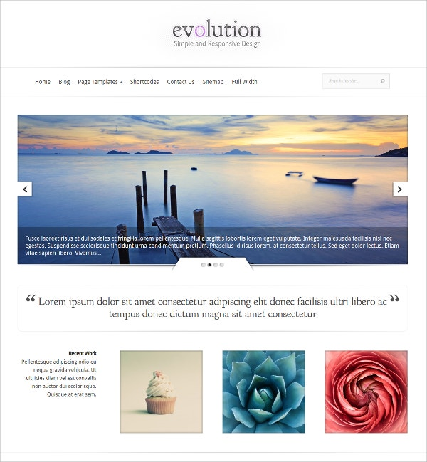 simple responsive wordpress theme