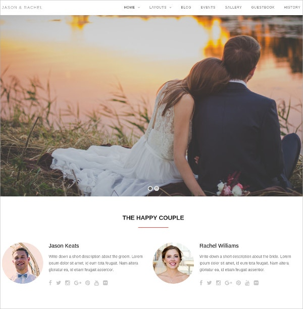 Wedding WordPress Theme $49