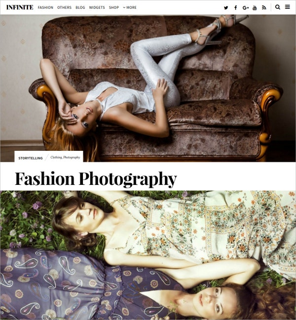 fashion photography wordpress theme