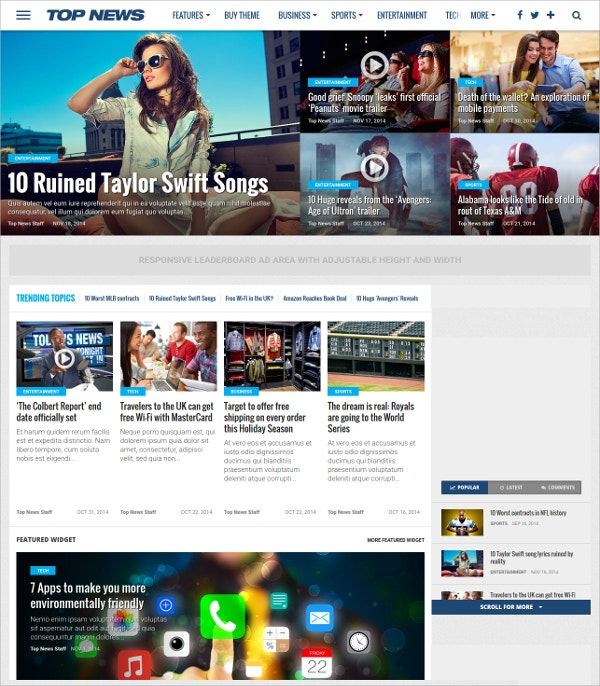 WordPress News & Magazine Theme $59