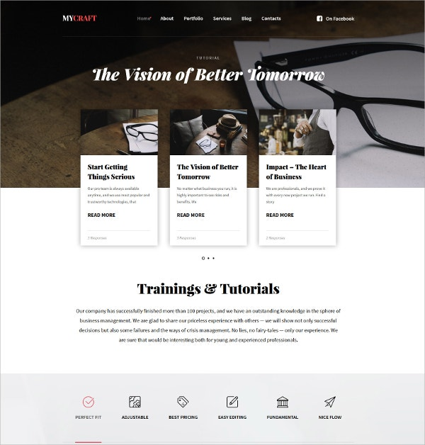Crafts Responsive WordPress Theme $75