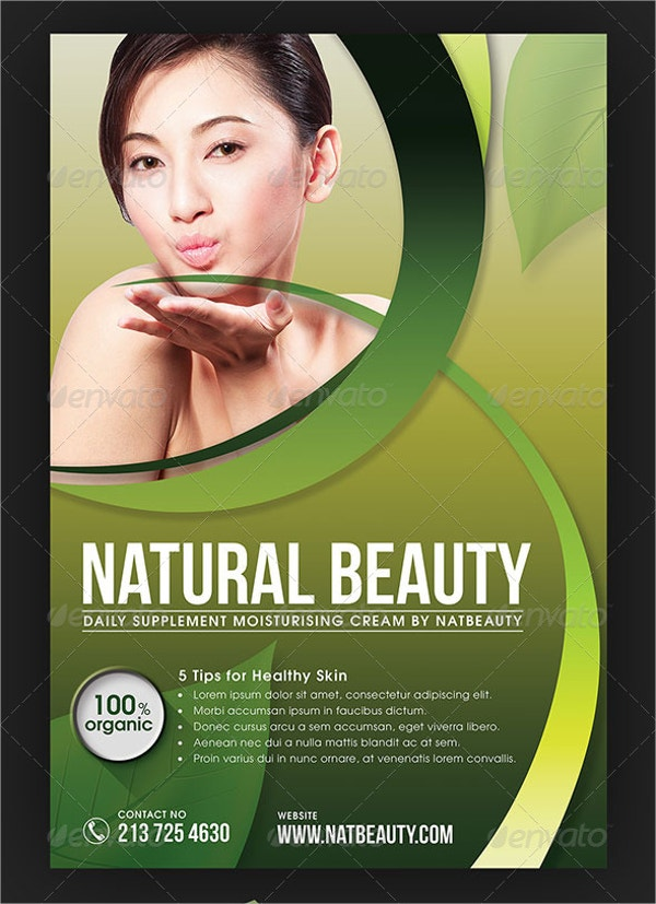 Unique Beauty Cosmetic Flyer