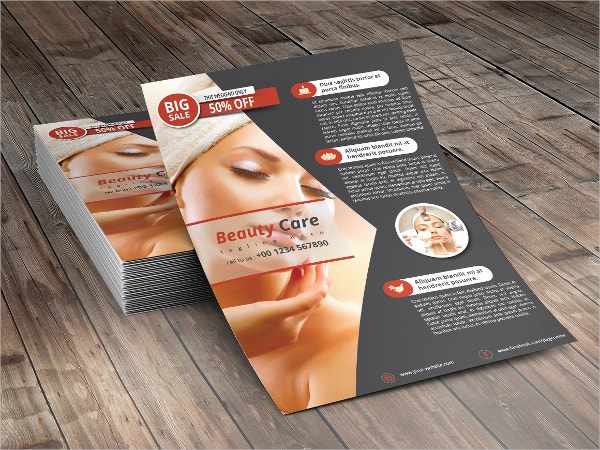Beauty Care Cosmetic Flyer