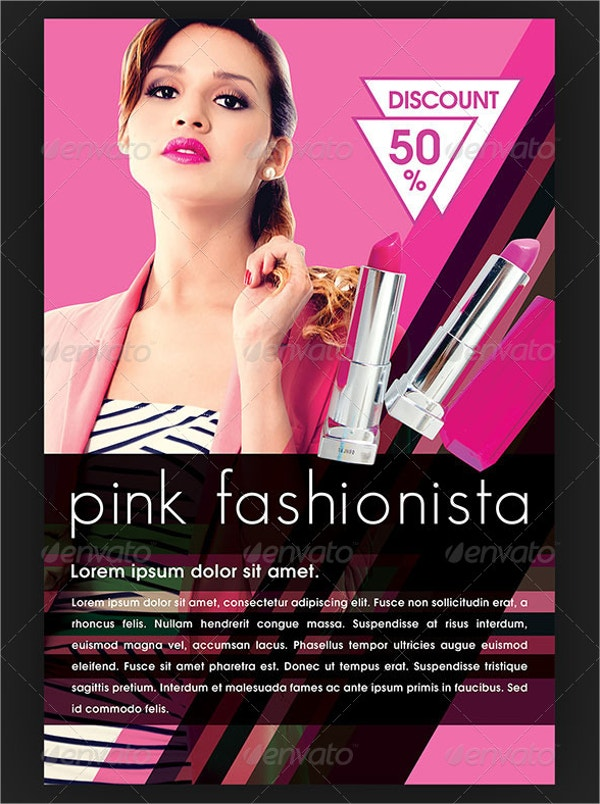 Fashionista Cosmetic Flyer