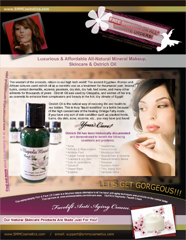 Advertising Cosmetic Flyer