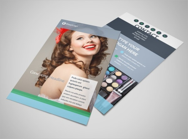 Makeup & Cosmetics Flyer