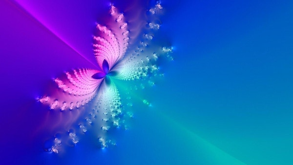 Butterfly Design Blue Backround Download