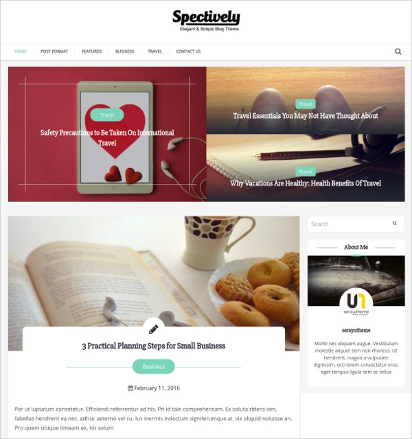elegant simple wordpress blog theme 491