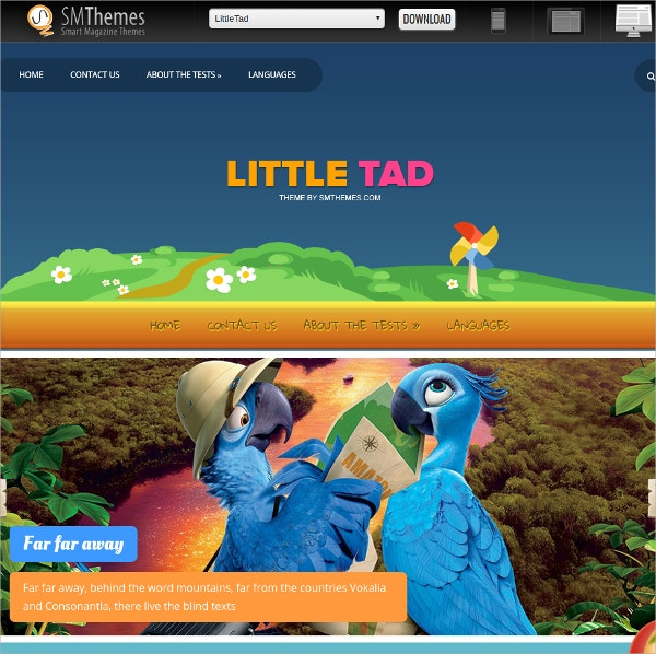 Free Simple Cartoon WordPress Theme