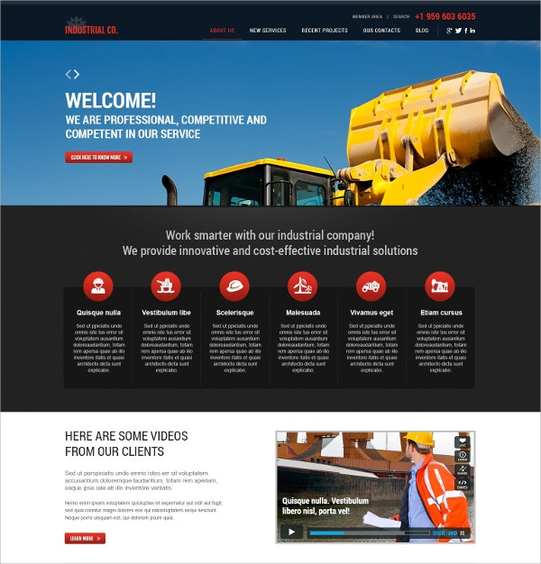 simple professional industrial wordpress theme 75