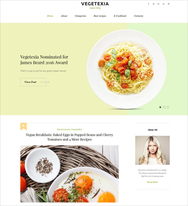 Simple Recipes Responsive WordPress Theme $45