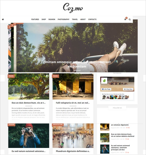 Clean & Simple WordPress Blog & Ecommerce Theme $59