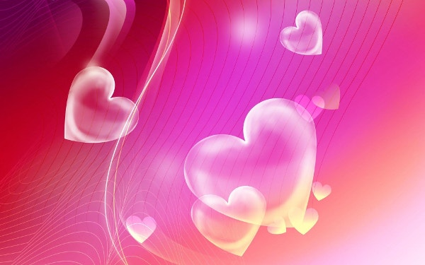 Pink Hearts Backgrounds HD for Desktop