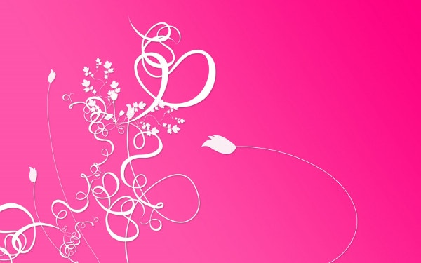 Cool Floral Design Pink Wallpaper Background
