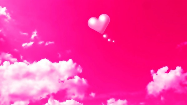 cloud heart pink wallpaper as background