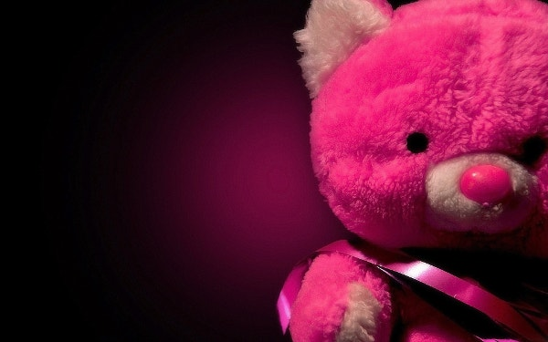 Pink Teddy Bear Doll Background for Girls