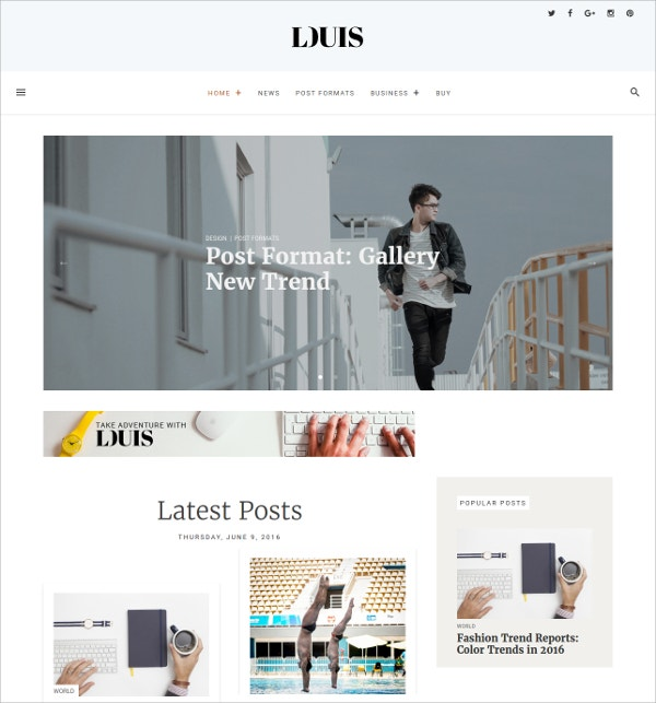 Modern & Simple WordPress Blog Magazine Theme $49