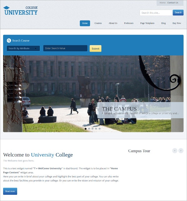 Simple Educational University WordPress Theme