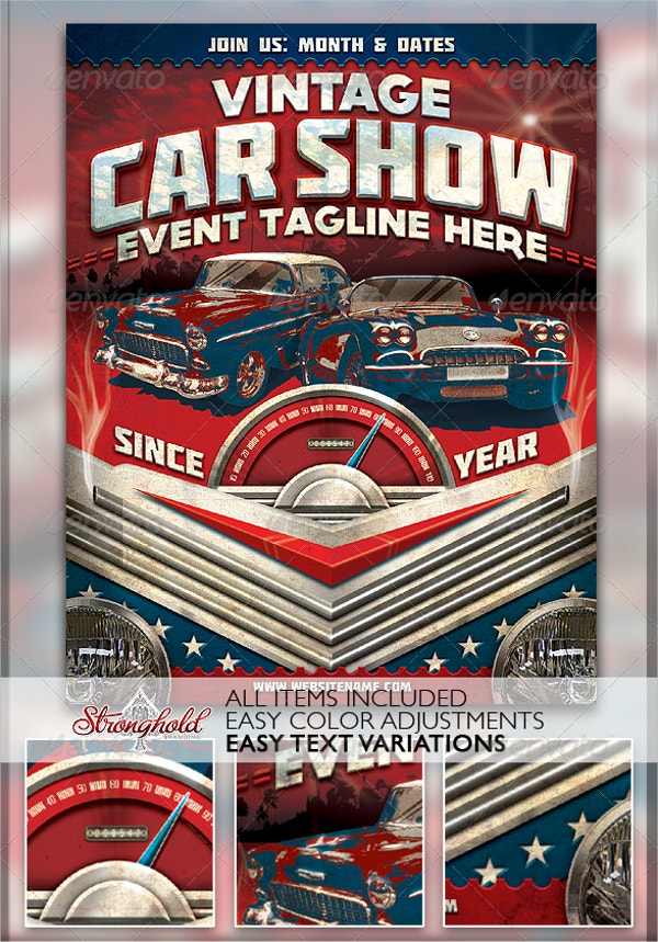 Car Show Flyer Template Free PSD AI EPS Format Download - Car show flyer background