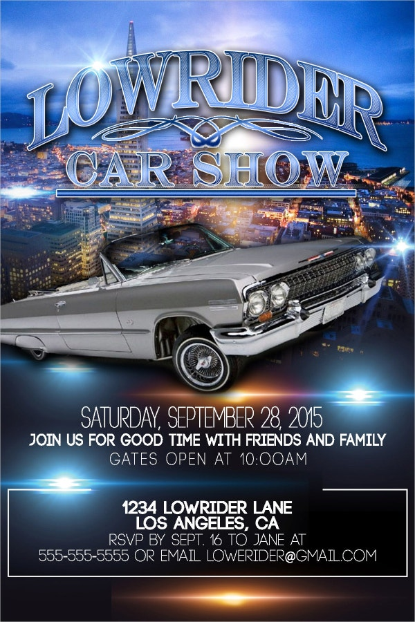 Custom Car Show Flyer Design