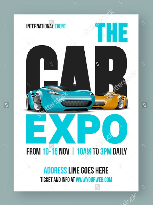 Luxurious Cars Show Flyer