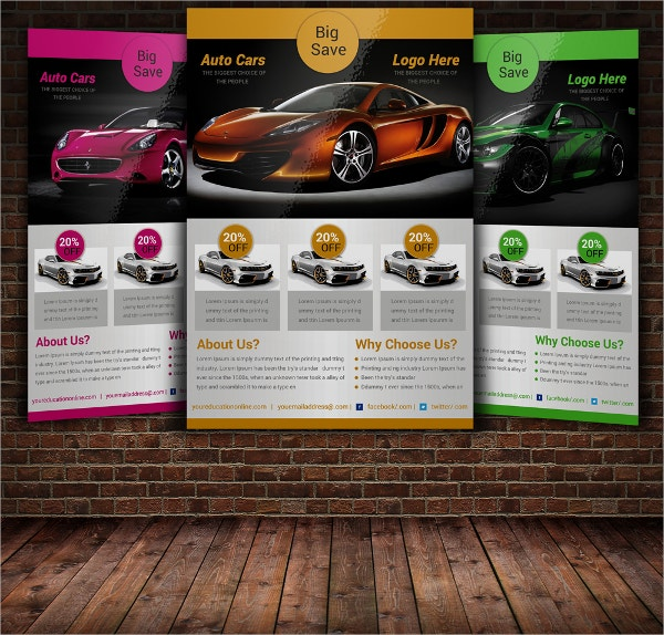 Auto Car Flyer Template