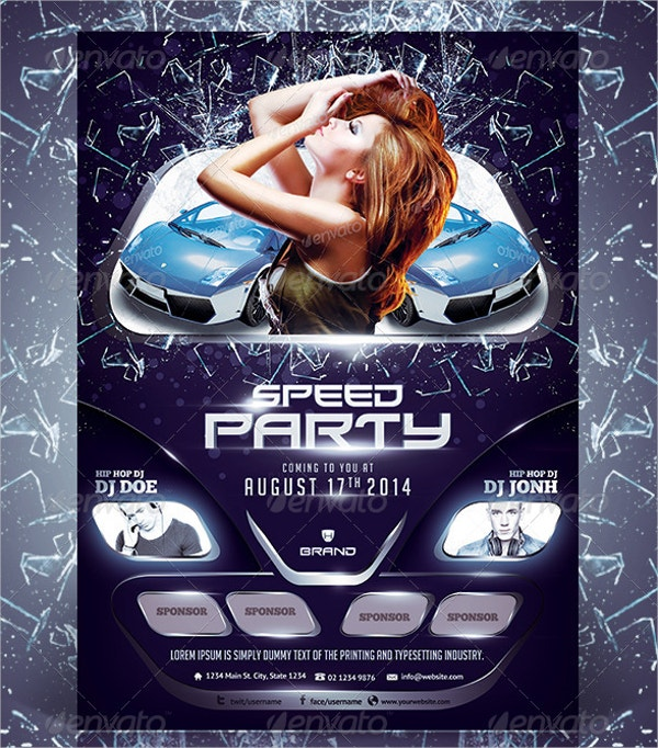 Car Show Party Flyer