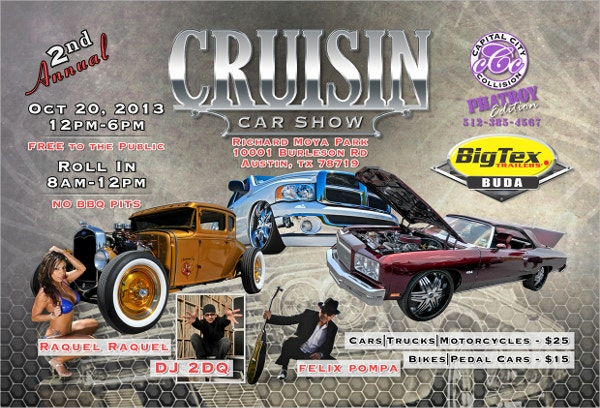 Cruisin Car Show Flyer