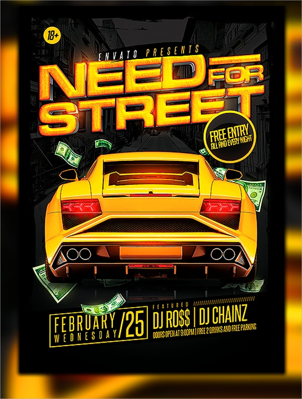 Car Show Event Flyer