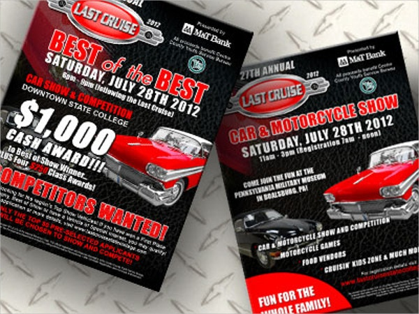 Last Cruise Car Show Flyer