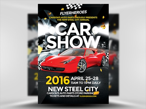City Annual Car Show Flyer
