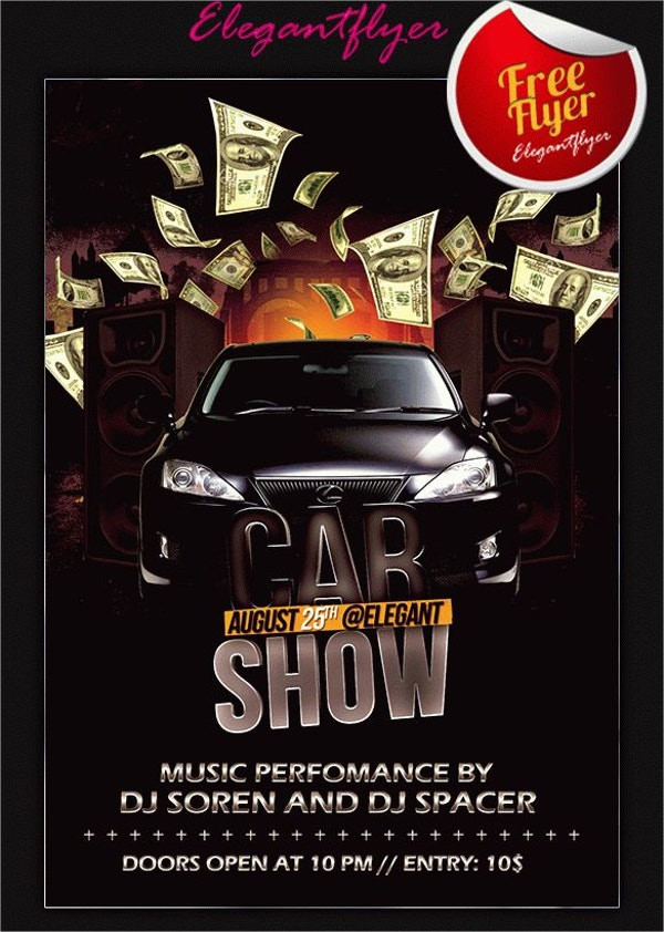 Elegant Car Show Flyer