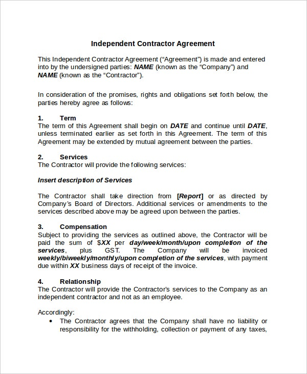 Contractor Confidentiality Agreement Templates  Free Sample