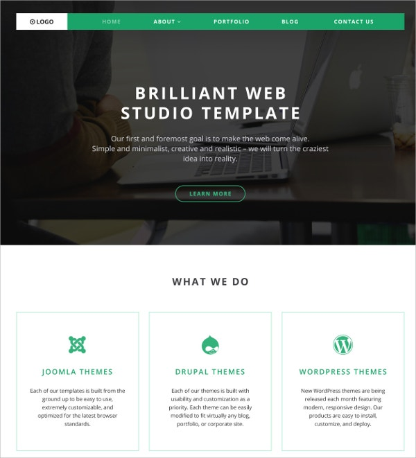 Responsive Parallax WordPress Theme $75