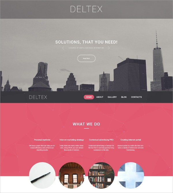 Business Parallax WordPress Theme $75