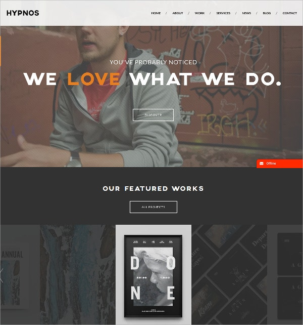 Creative Parallax WordPress Theme For Corporate $49