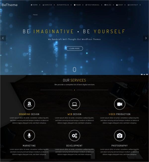 Professional One Page Creative Parallax WordPress Theme