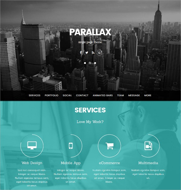Design & Trend Parallax WordPress Theme