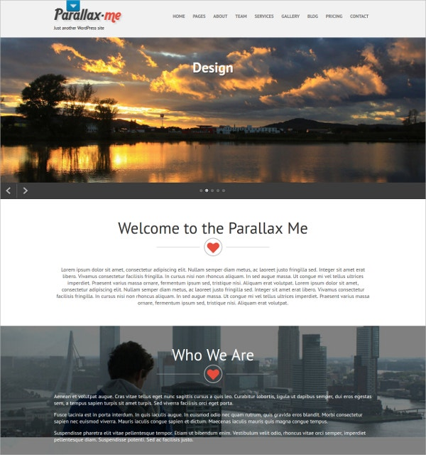 Premium Professional Parallax WordPress Theme