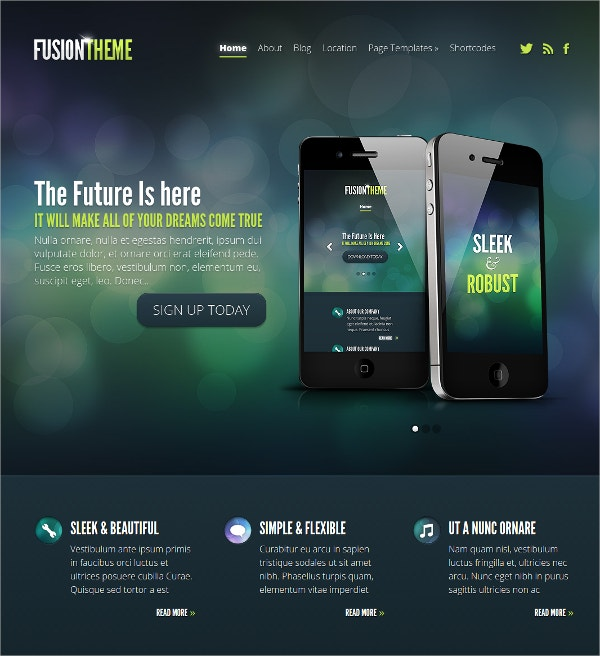 special mobile wordpress theme