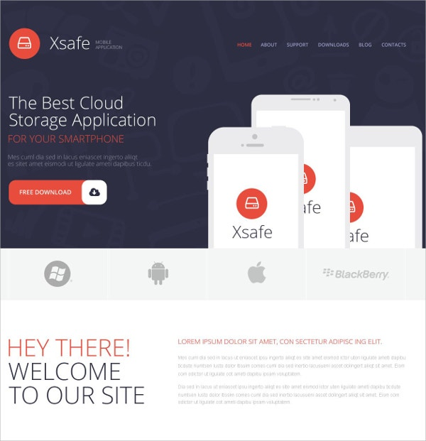 Mobile App Store WordPress Theme $75