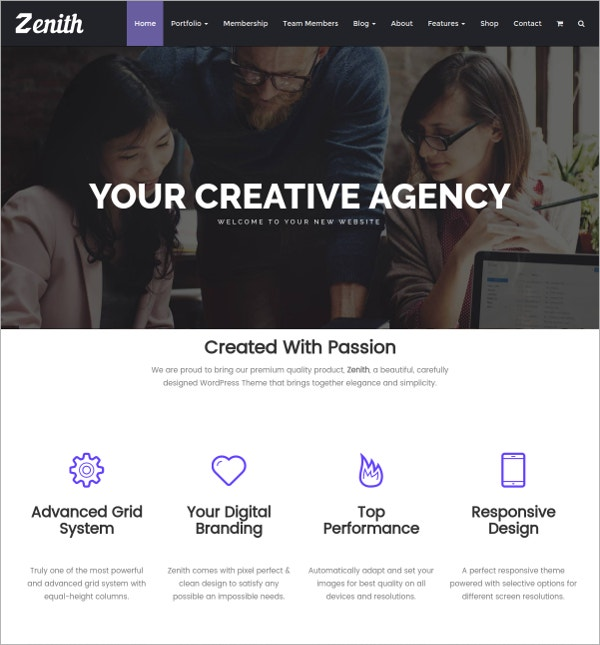 Portfolio Responsive WordPress Theme $35