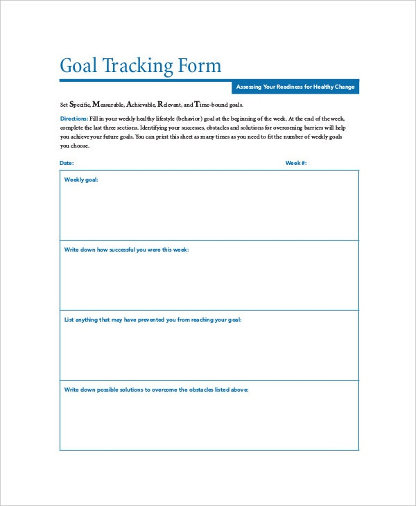 Tracking Templates  Free Sample Example Format  Free