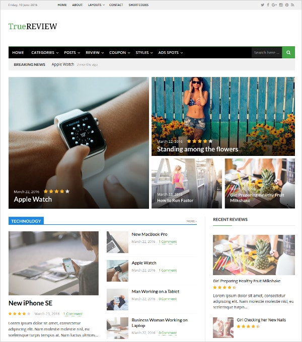 amazing news mobile wordpress theme