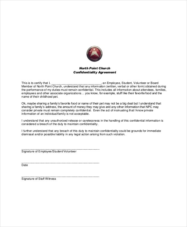 11  generic confidentiality agreement templates  u2013 free sample  example format download