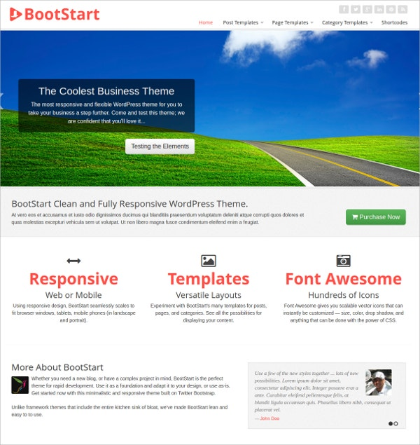 Business Custom WordPress Theme $59