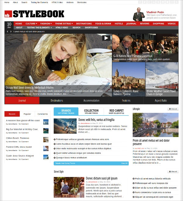 News Paper Custom WordPress Theme $59